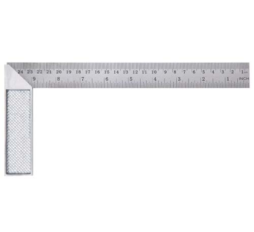 Stainless steel square with aluminum handle